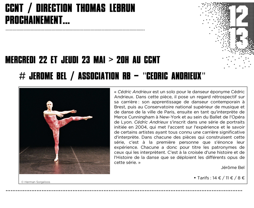 Newsletter Cédric Andrieux